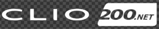 Clio200.net Single Colour Logo Sticker