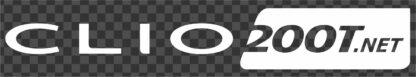 Clio200T.net Single Colour Logo Sticker