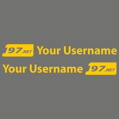 Username Sticker (Pair)